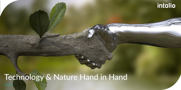 Technology and Nature Hand in Hand